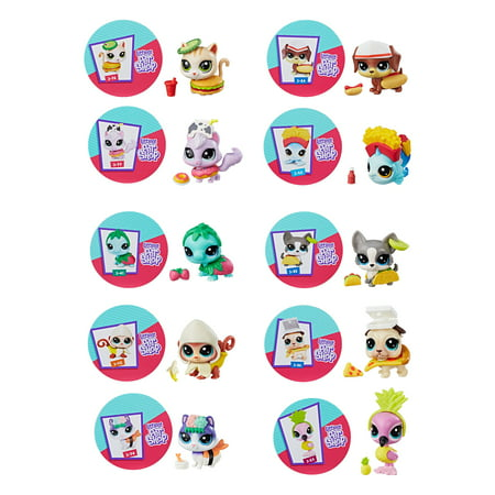 Littlest Pet Shop LPS Hungry Pets, 10 to collect, Ages 4 and up - Littlest Pet Shop Sheets