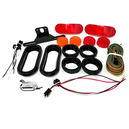 One Diode LED Trailer Light Kit Oval for Single Axle Trailer