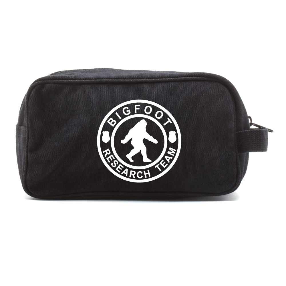 Bigfoot Research Team Canvas Dual Two Compartment Travel Toiletry Dopp Kit Bag