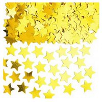 14g Gold Star Table confetti - fab gold stardust at a great price Party Table