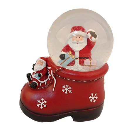 Elegantoss 100 MM Poly resin Santa Decorative Christmas Water Snow Globe - Halloween Snowglobe