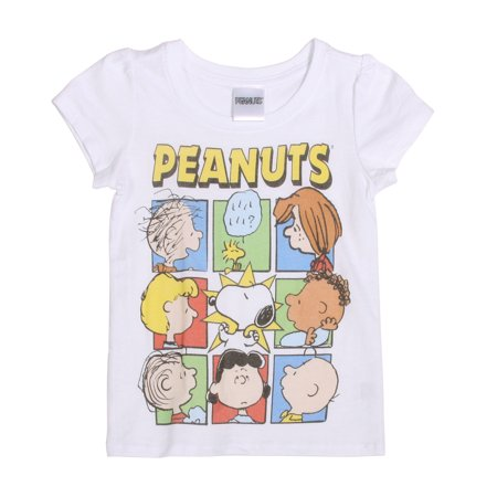 Peanuts Group Shot Toddler Short Sleeve T-Shirt, Sky blue](Peanuts Characters Merchandise)