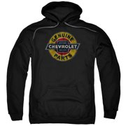Chevy Genuine Chevy Parts Distressed Sign Mens Pullover Hoodie Black
