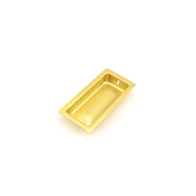 Ives Residential 227B4 Solid Brass Large Rectangular Flush Pull Satin Brass Finish
