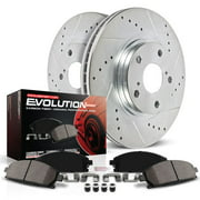 Power Stop Front Ceramic Brake Pad and Drilled and Slotted Rotor Kit K6258
