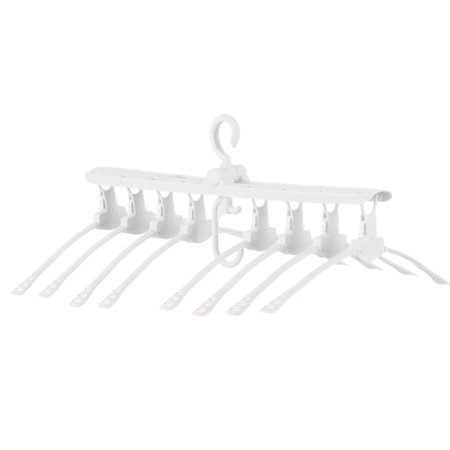 Multi-layers Folding Non-Slip Clothes Hanger Airer 360° Rotation Hanging Laundry Rack Collapsible Detachable Space Saver Drying Hanger