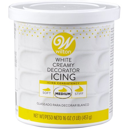 Wilton Creamy Decorator Icing, Bright White, 16oz