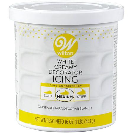 Wilton Creamy Decorator Icing, Bright White, (Wilton Decorating Icing)