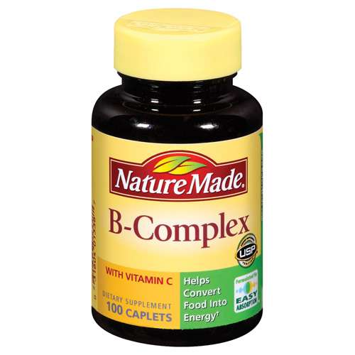 Nature Made: B-Complex w/Vitamin C Caplets Dietary Supplement, 100 Ct