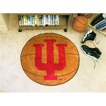 FANMATS 1814 Indiana Basketball Rugs 29 in. diameter - Iu Basketball Halloween