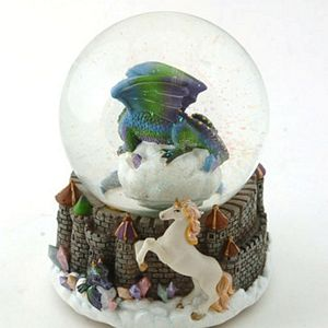 Musical Floating Globe Dragon and Unicorn by Cadona CD52155A by Cadona International Inc