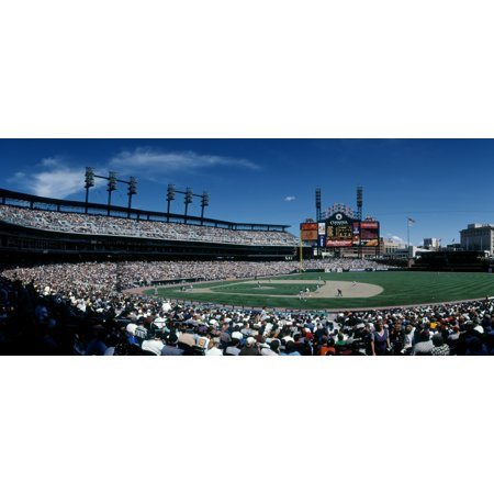 People watching Baseball match at Comerica Park Detroit Michigan USA Poster Print by Panoramic Images](Halloween Usa Michigan)