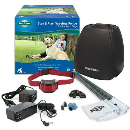PetSafe Stay & Play Wireless Fence for Stubborn (Stubborn Dog Fence Kit)