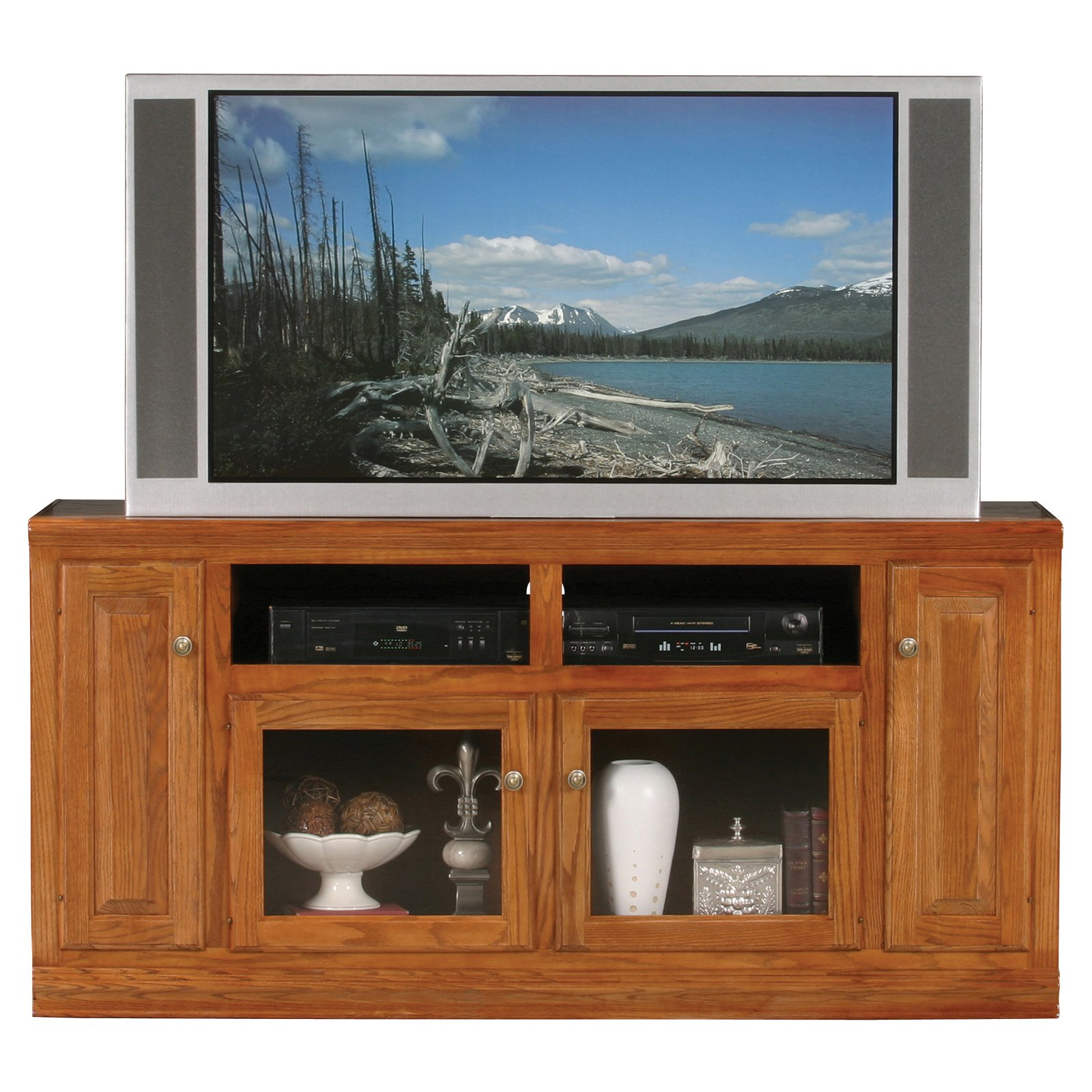 Eagle Furniture Classic Oak Thin Customizable 66 In. Tall Entertainment TV  Stand   Walmart.com