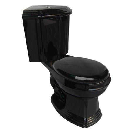 - Black Ceramic Round Space Saving Corner Toilet | Renovator's Supply