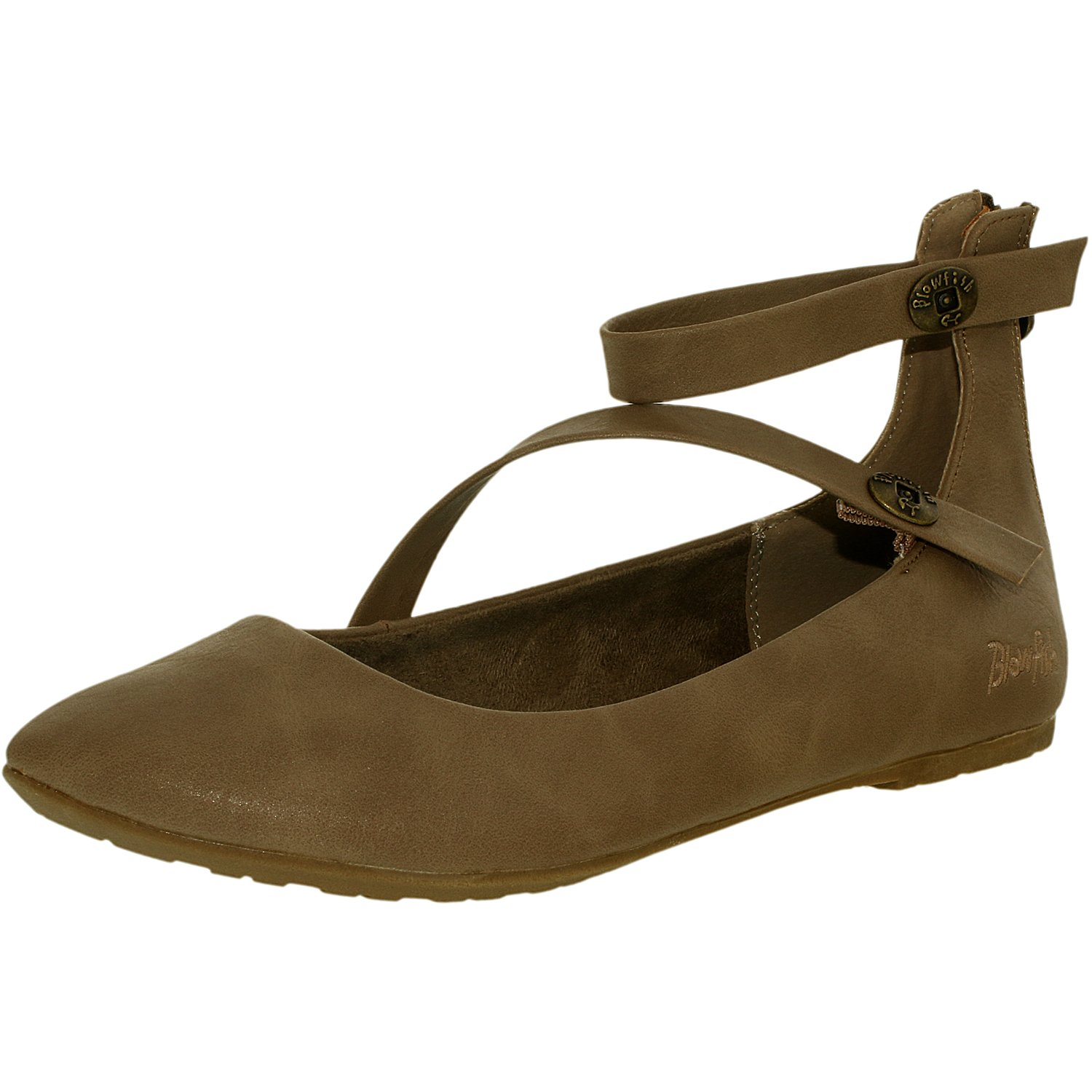 Blowfish Women's Ranton Synthetic Toast Old Ranger Ankle-High Leather Ballet Flat - 7M