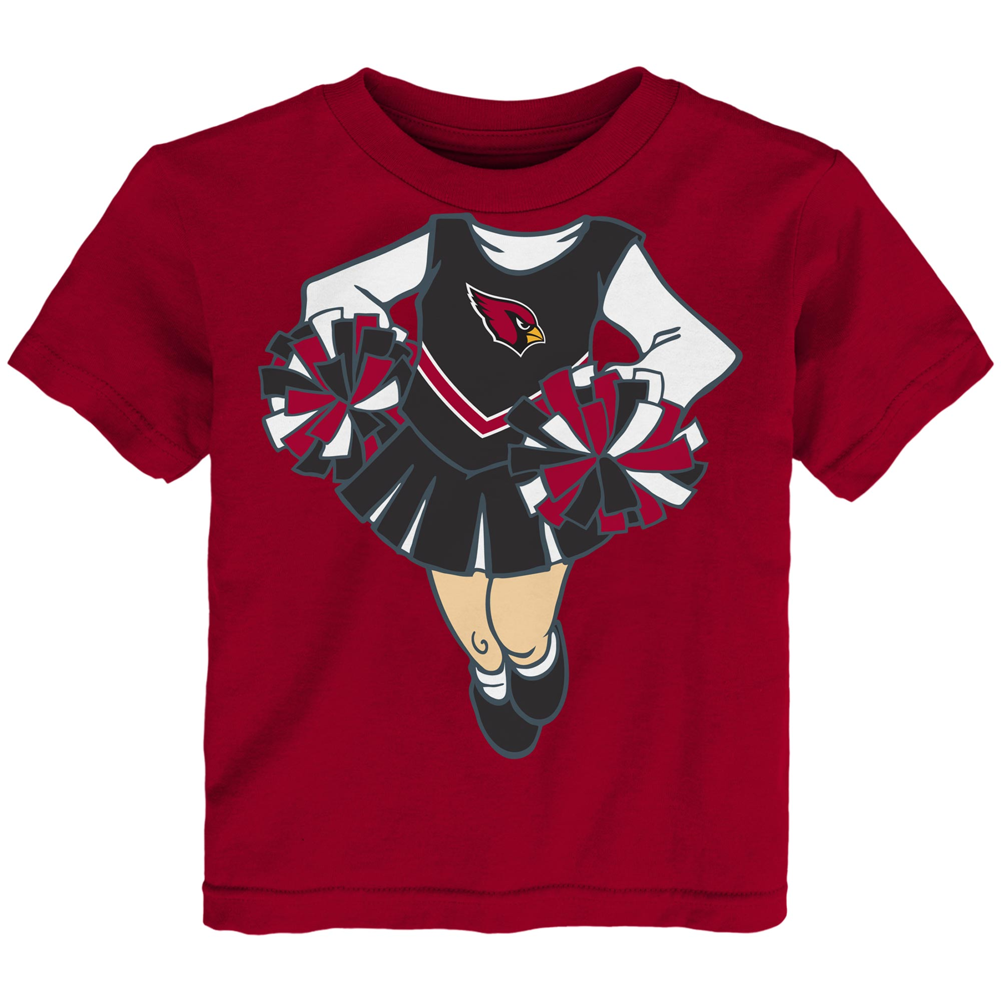 Arizona Cardinals Girls Toddler Cheerleader Dreams T-Shirt - Cardinal