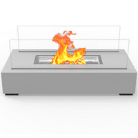 Regal Flame ET7005GRY Utopia Ventless Tabletop Bio Ethanol Fireplace in Gray
