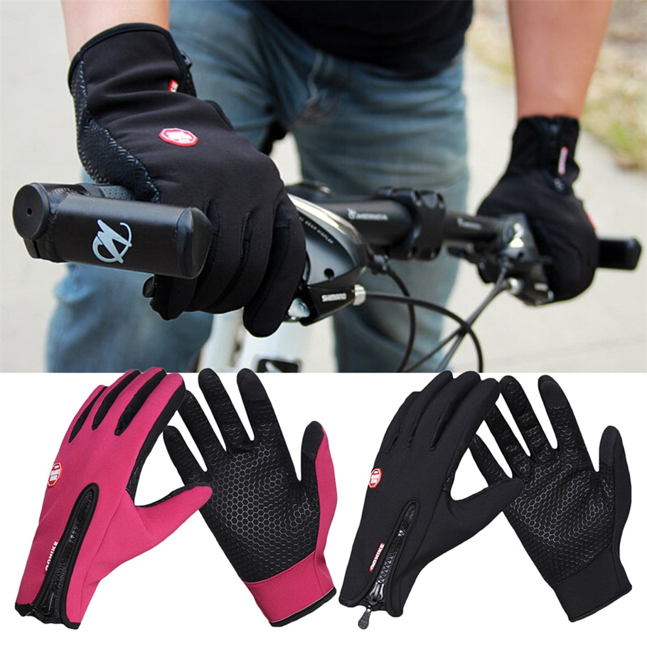 Warm Sports Cycling Camping Hiking Touch Screen Windproof Fleece Gloves by