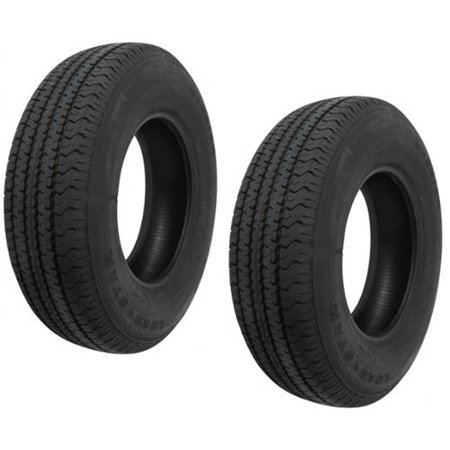 2-Pack Radial Trailer Tire ST225/75R15 ST 225/75 R 15 in. Load Range D (15 Inch Trailer Tires Load Range D)
