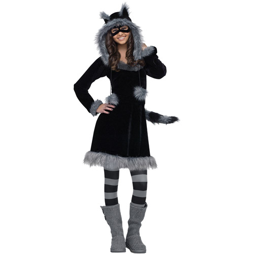 Sweet Raccoon Teen Halloween Costume - One Size