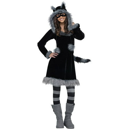 Sweet Raccoon Teen Halloween Costume - One Size - Teen Cop Costumes