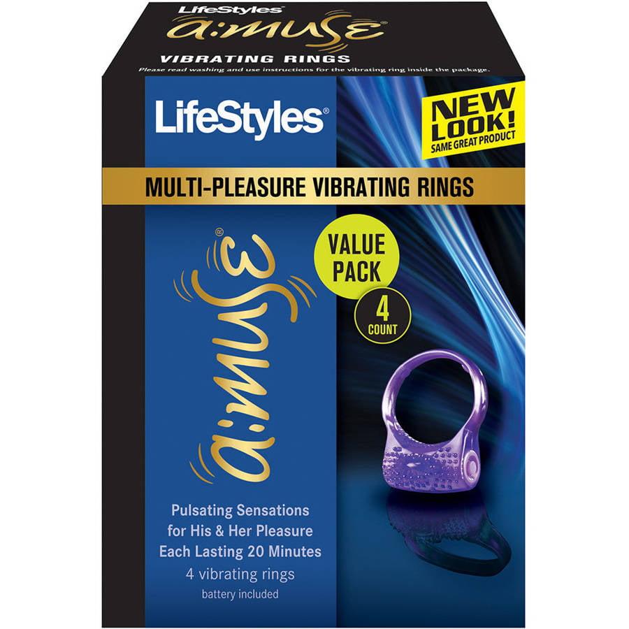 LifeStyles Vibrating Ring, 4ct