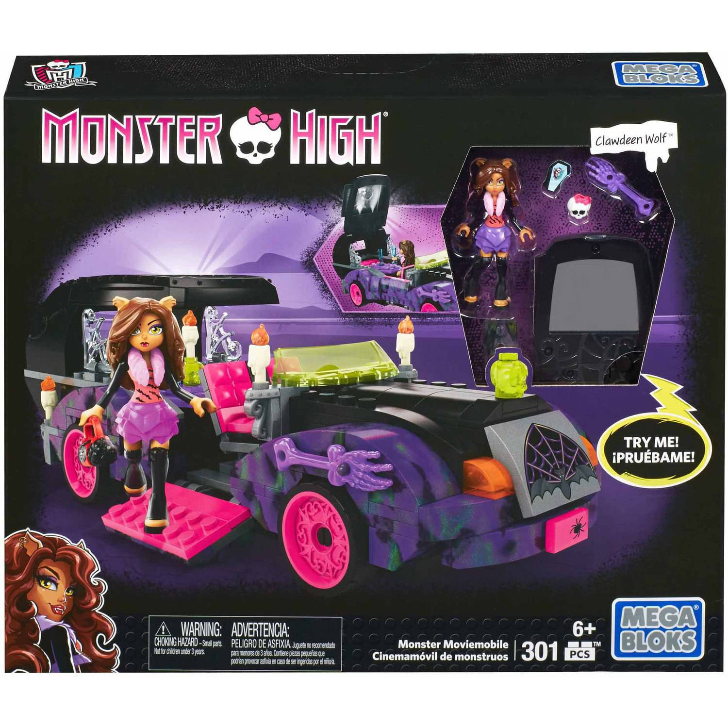 Monster High Monster Moviemobile Set Mega Bloks 38051 [Clawdeen Wolf]