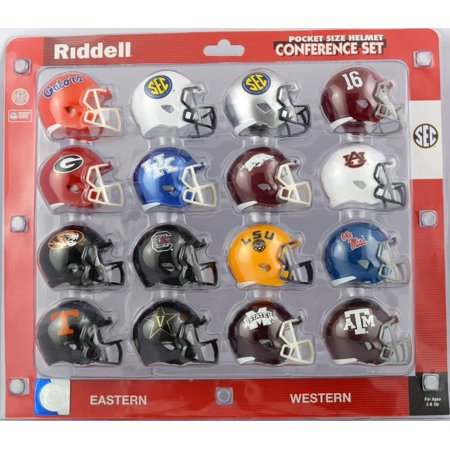 SEC Pocket Size Helmet Conference Set, REPLICA: these mini helmets are replica designs of official helmets used by your favorite college football teams. By Riddell Riddell Carolina Panthers Replica Helmet