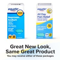 Equate Pain Relief Naproxen Sodium Gelcaps, 220 mg, 20 Ct