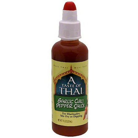 A Taste Of Thai Garlic Chili Pepper Sauce, 7 oz (Pack of 6)