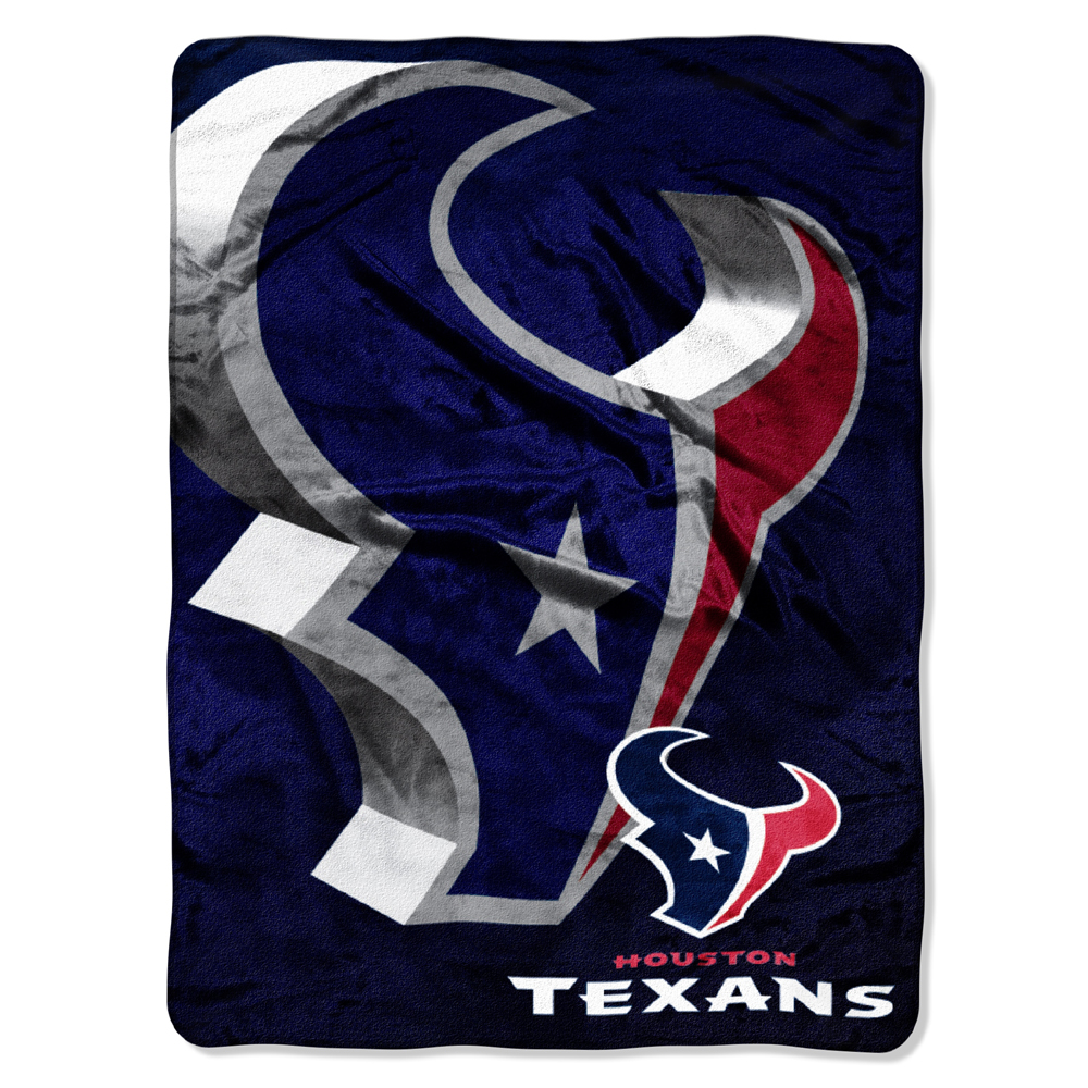 "Houston Texans NFL Micro Raschel Blanket (Bevel Series) (80""x60"")"