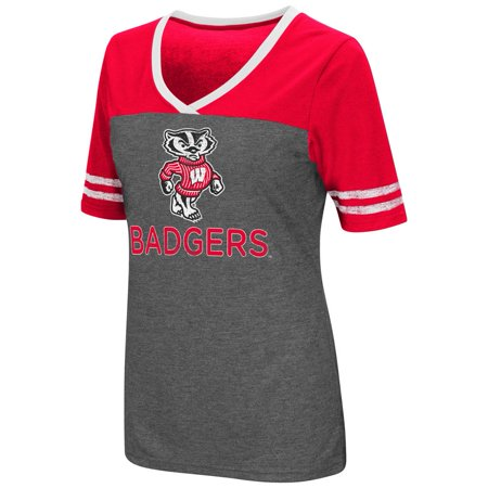 Ladies Colosseum Mctwist University of Wisconsin Badgers Jersey T Shirt