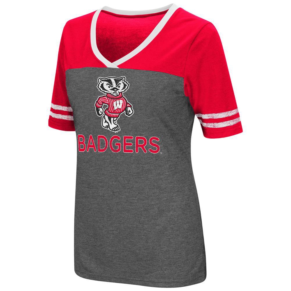 Ladies Colosseum Mctwist University of Wisconsin Badgers Jersey T Shirt