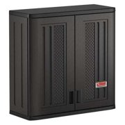 Suncast 30-Inch Single Shelf Wall Storage Cabinet for Garage and Shed, Black