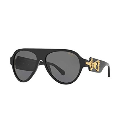 6ee176e5f83a Versace - Versace Mens Only At Sunglass Hut Sunglasses (VE4323) Black/Grey  Acetate - Polarized - 58mm - Walmart.com