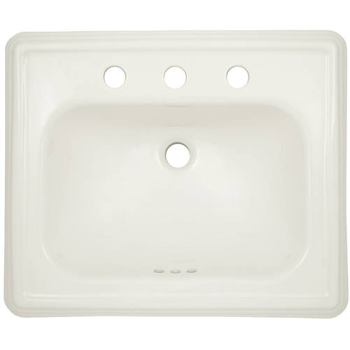 "Toto Promenade 22-1/2"" Drop In Bathroom Sink with 3 Faucet Holes Drilled and Overflow, Available in Various Colors"