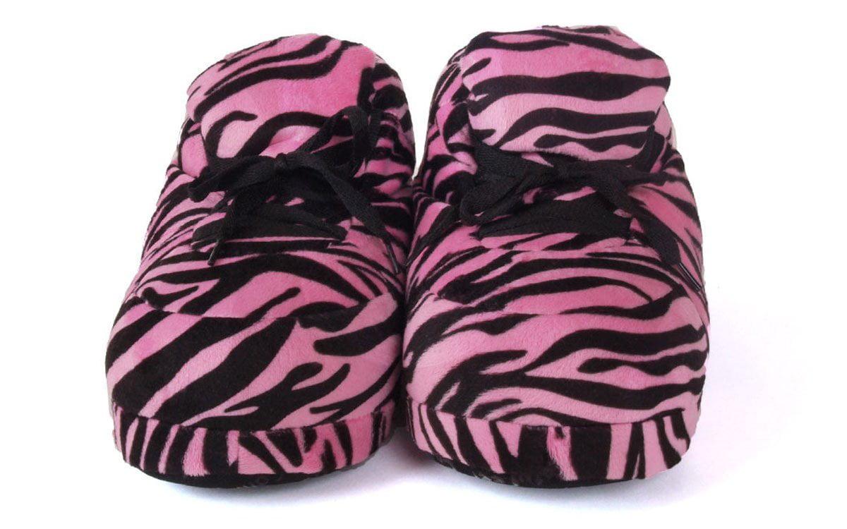50f071d3bc140a Happy Feet - Happy Feet - Snooki s Pink Zebra Print - Snooki Slippers - XL  - Walmart.com