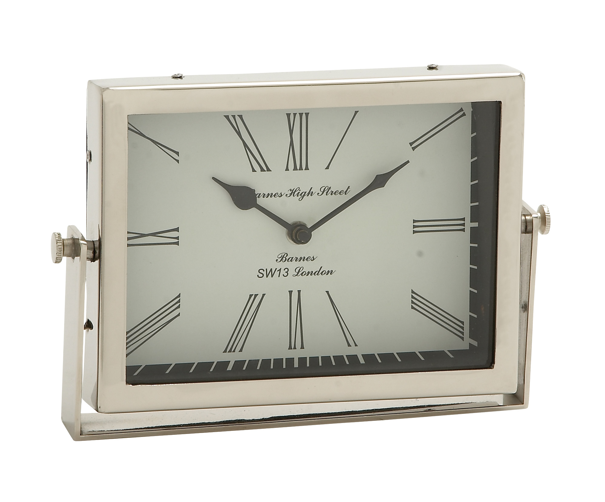 Exclusively Designed Steel Table Clock by Benzara