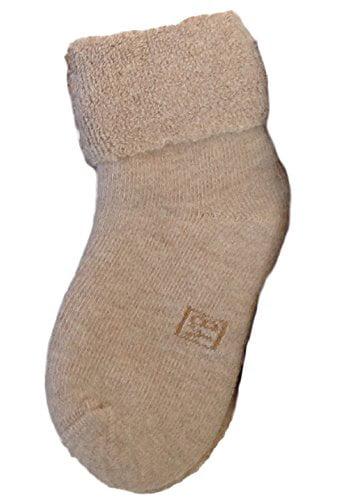 Lian Lifestyle Baby Boy's 1 Pair Wool Socks Plain Color 12M-24M (Beige)