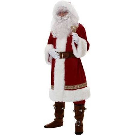 Super Deluxe Old Time Santa Suit Costume-Men Standard