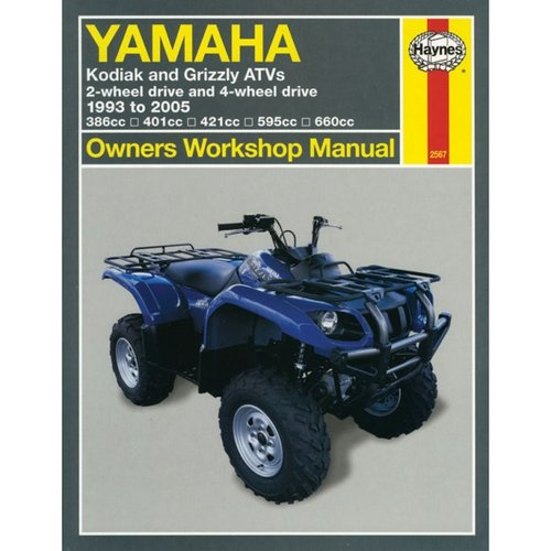 Yamaha Kodiak & Grizzly Atvs 1993 to 2005: 2-wheel Drive and 4-wheel Drive