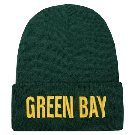 City Hunter Sk901 Green Bay Bold Sports Team Cuffed Skull Beanie - Party City Green Bay Wi
