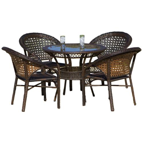 Jason Brown Outdoor 5-piece Wicker Dining Set
