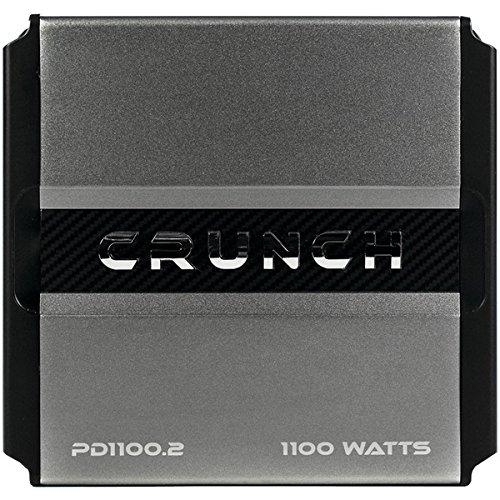 Crunch PD1100.2 Pd 1100.2 Power Drive Class Ab 2-channel Bridgeable Amp [1,100 Watts Max]