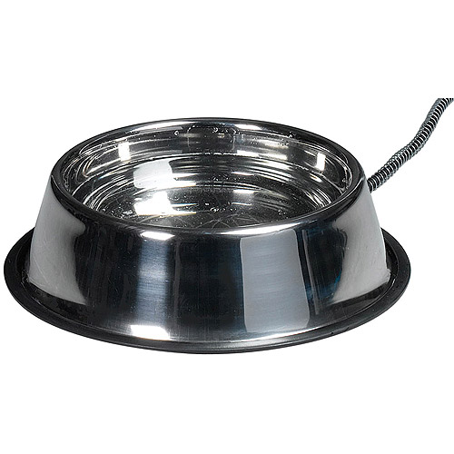 Allied Precision SB50 50W Stainless Steel Heated Pet Bowl