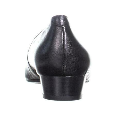 2dce99b0d0 Aerosoles Subway Low-Heel Dress Pumps, Black Leather | Walmart Canada