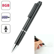 Mini Portable Rechargeable 8GB SPY Hidden sound Audio Voice Recorder Pen Voice Activated Recorder for Lectures Sound Audio Recorder, Recording and Save Perfect for Meetings, Classes, Interview, Speech