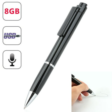 Mini Portable Rechargeable 8GB SPY Hidden sound Audio Voice Recorder Pen Voice Activated Recorder for Lectures Sound Audio Recorder, Recording and Save Perfect for Meetings, Classes, Interview, (Best Dslr Audio Recorder)