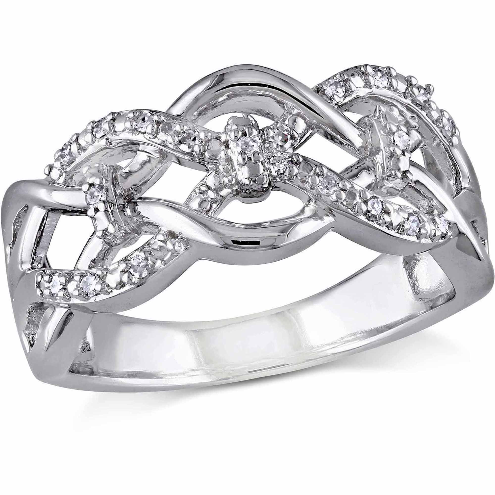 Miabella Diamond-Accent Sterling Silver Ring